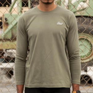 BAIT Men Core Long Sleeve Tee (green / military green)