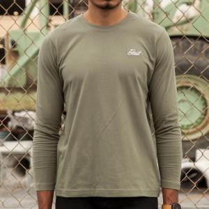 BAIT Men Core Long Sleeve Tee (green / military green)