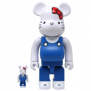 Medicom Hello Kitty Generation 70s 100% 400% Bearbrick Figure Set (blue / white)