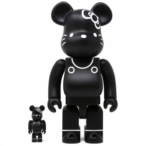 Medicom Hello Kitty Generation 80s 100% 400% Bearbrick Figure Set (black)