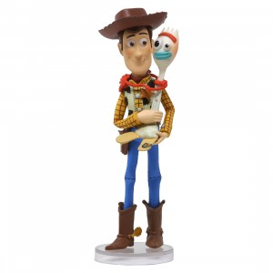 Medicom UDF Toy Story 4 Woody And Forky Ultra Detail Figure (brown)