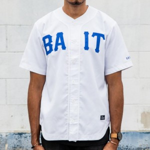 BAIT Men Sluggers Baseball Jersey (white / blue)