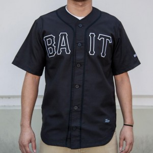 BAIT Men Sluggers Baseball Jersey (black / black / white)