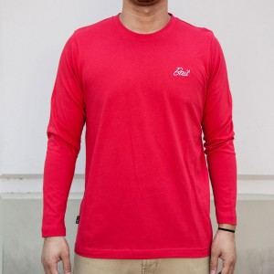 BAIT Men Core Long Sleeve Tee (red)
