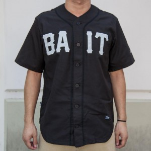 BAIT Men Sluggers Baseball Jersey (black / gray)