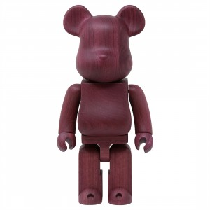 Medicom Karimoku Purple Heart 400% Bearbrick Figure (purple)
