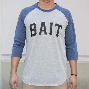 BAIT Men Core Raglan Tee (gray / navy)