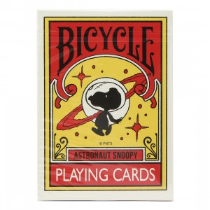 Medicom Peanuts Astronaut Snoopy Bicycle Playing Cards (red)