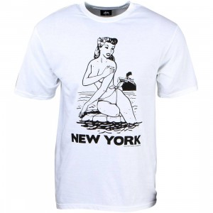 Stussy Men Aloha Cities Tee - New York (white / black)