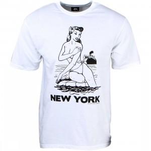 Stussy Men Aloha Cities Tee - New York (white / black)