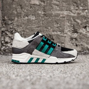 hot sale online 67fab 02f10 Adidas Women EQT Support 93 (black  core black  eqt green  off white