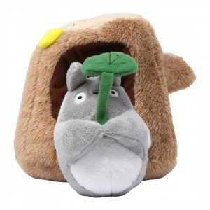 Studio Ghibli Sun Arrow My Neighbor Totoro Totoro and Tree Trunk Plush (gray / brown)