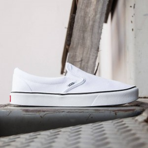 Vans Men Slip-On Lite Plus - Canvas (white / true white)