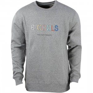 Barney Cools Men 90s Cools Crew Sweater (gray / melange)