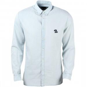 Barney Cools Men B Schooled Button Up Shirt (gray / chambray)