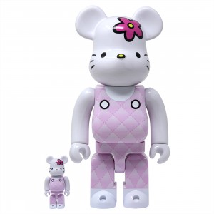 Medicom Hello Kitty Generation 90s 100% 400% Bearbrick Figure Set (pink)