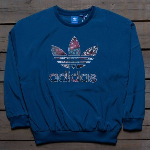 Adidas Women Trefoil Sweatshirt (blue / tech steel)