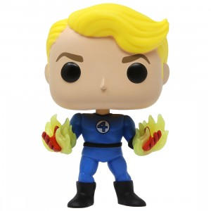 Funko POP Marvel Fantastic Four Human Torch Suited GID (blue / glow in dark)
