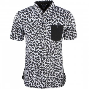 Vans Men Kishimoto Shirt (white / black flash)