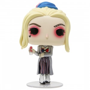 Funko POP Heroes Birds Of Prey Harley Quinn Black Mask Club With Collectible Card - Entertainment Earth Exclusive (silver)