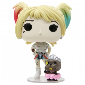 Funko POP Heroes Birds Of Prey Harley Quinn And Beaver With Collectible Card - Entertainment Earth Exclusive (beige)