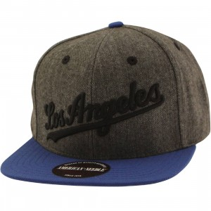 American Needle MLB Los Angeles Dodgers Snapback Cap - Flak (brown / royal)