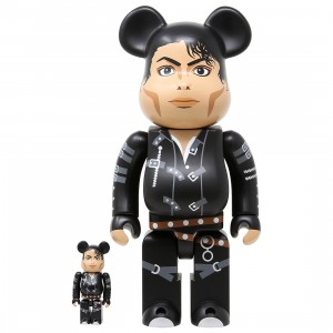 Medicom Michael Jackson BAD 100% 400% Bearbrick Figure Set (black)