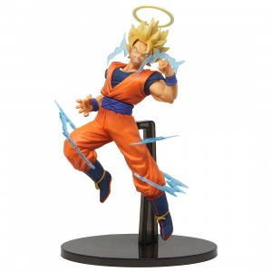 Banpresto Dragon Ball Z Dokkan Battle Collab Super Saiyan 2 Goku Figure (orange)