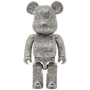 Medicom Royal Selangor Arabesque Classic 400% Bearbrick Figure (silver)
