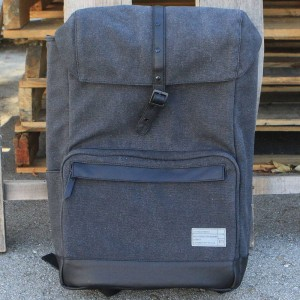 Hex Coast Backpack (gray / charcoal canvas)