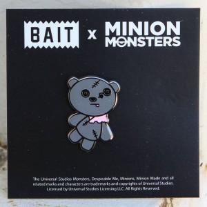 BAIT x Minion Monsters ZombieTim Bear Pin (gray)