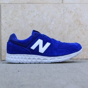 New Balance Men 574 Fresh Foam Suede MFL574FE (blue/ white)