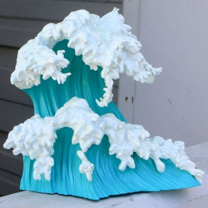 BAIT x Kozyndan x Munky King Uprisings Turquoise Vinyl Sculpture - Convention Exclusive (teal / white)