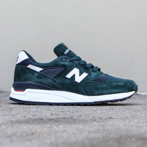 New Balance Men 998 Age of Exploration M998CHI - Made In USA (green / dark green / navy)