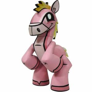 Chinese Zodiac Mini Figure By Joe Ledbetter - Horse (pink)