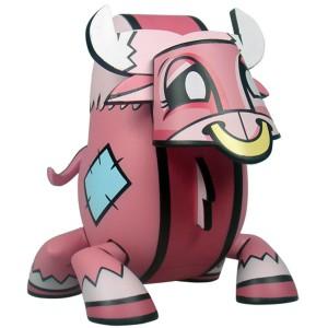 Chinese Zodiac Mini Figure By Joe Ledbetter - Ox (pink)