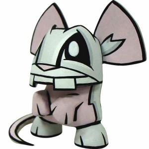 Chinese Zodiac Mini Figure By Joe Ledbetter - Rat (grey)