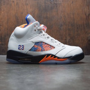 Air Jordan 5 Retro Men (sail / racer blue-cone-black)