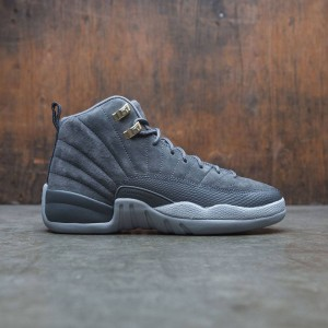 Air Jordan 12 Retro (GS) Big Kids (dark grey / dark grey-wolf grey)