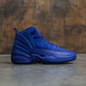 Air Jordan 12 Retro (GS) Big Kids (blue / deep royal blue / white-metallic silver)