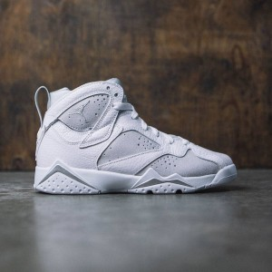 Air Jordan VII Retro (GS) Big Kids (white / metallic silver-pure platinum)