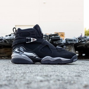 Air Jordan 8 Retro GS Big Kids (black / light graphite / white)