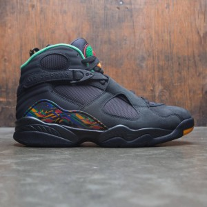 Air Jordan 8 Retro Men (black / light concord-aloe verde)