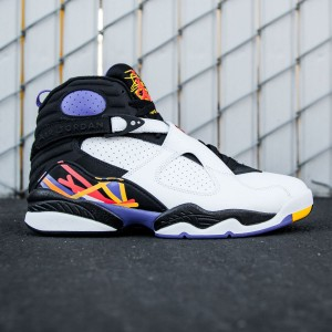 Air Jordan 8 Retro - Three-Peat Men (white / infrared 23 / black / bright concord)