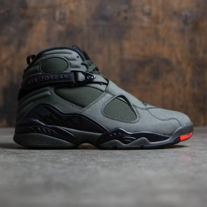 Air Jordan 8 Retro Men (sequoia / max orange-black-dark stucco)