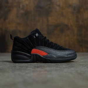 AIR JORDAN 12 RETRO LOW (GS) Big Kids (black / max orange-anthracite)
