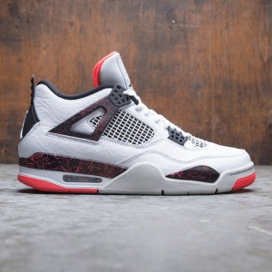 Air Jordan 4 Retro Men (white / black-bright crimson)