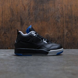 Air Jordan IV Retro (PS) Pre-School Little Kids (black / soar-matte silver-white)