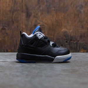 Air Jordan IV Retro (TD) Toddlers (black / soar-matte silver-white)
