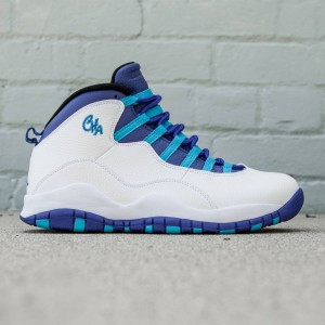 Air Jordan Retro X Charlotte Men (white / concord-blue lagoon-black)